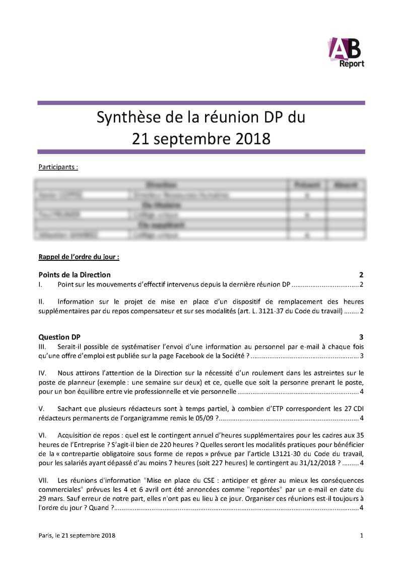 Synthèses | AB REPORT